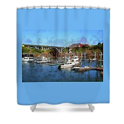 Worlds Smallest Harbor Shower Curtain