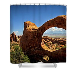Worm Hole Shower Curtain by Skip Hunt