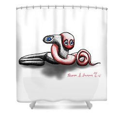 Worm Hug. Shower Curtain