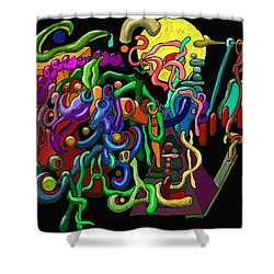 Worm Playground Shower Curtain