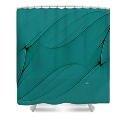 Wormhole In Turquoise  Shower Curtain by Angela A Stanton