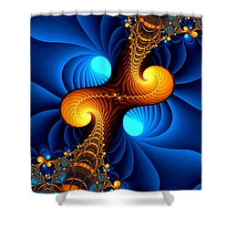 Wormhole Shower Curtain
