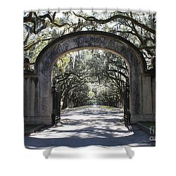 Wormsloe Plantation Gate Shower Curtain