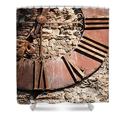 Worn Time Shower Curtain by Rae Tucker