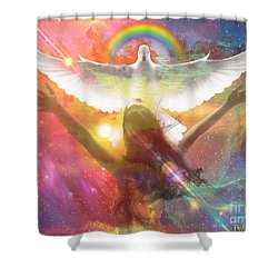 Worship  Shower Curtain by Dolores Develde