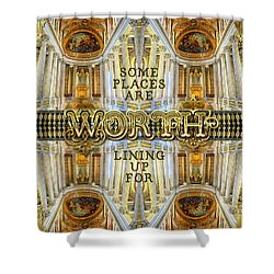 Worth Lining Up For Versailles Palace Chapel Paris Shower Curtain