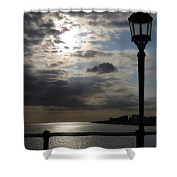 Worthing Seafront From The Pier Shower Curtain