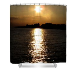 Worthing Sunset Shower Curtain