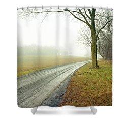 Worthington Lane Shower Curtain by Jan W Faul