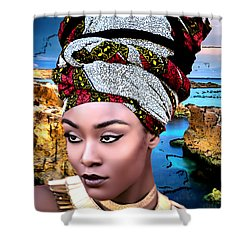 Worthy Is She Shower Curtain