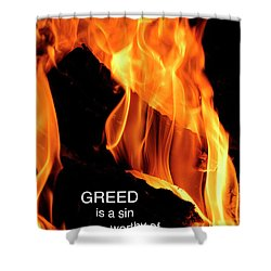 Shower Curtain featuring the photograph worthy of HELL fire by Paul W Faust - Impressions of Light