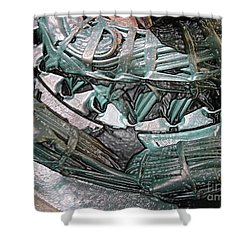 Wound Tight Shower Curtain by Ron Bissett