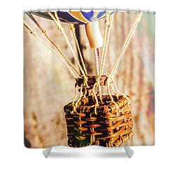 Woven Air Craft Shower Curtain
