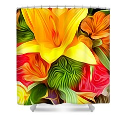 Wow Me Flower Shower Curtain