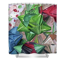 Shower Curtain featuring the painting Wrap It Up by Lynne Reichhart
