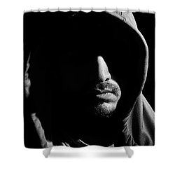 Wrapped In Shadows Shower Curtain