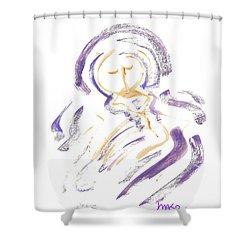 Wrapt In Prayer Shower Curtain