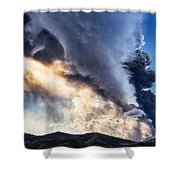 Wrath Of Nature Shower Curtain