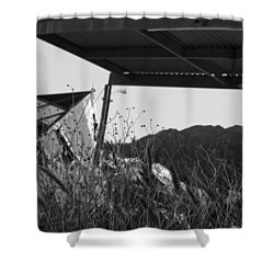 Wreak Black And White Shower Curtain by David S Reynolds