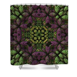 Shower Curtain featuring the digital art Wreath by Lyle Hatch