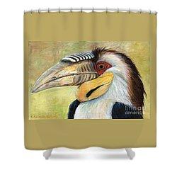 Wreathed Hornbill  Shower Curtain