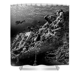 Wreck Of Abu Galawa Shower Curtain