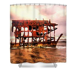 Wreck Of The Peter Iredale  Shower Curtain
