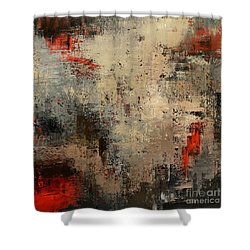 Shower Curtain featuring the painting Wreckage by Tatiana Iliina