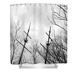 Shower Curtain featuring the photograph Wrecked by Valentino Visentini