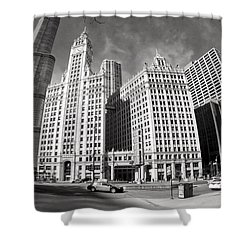 Wrigley Building - Chicago Shower Curtain