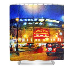 Wrigley Field Home Of Chicago Cubs Shower Curtain