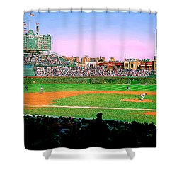 Wrigley Field  Shower Curtain