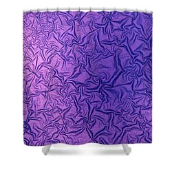 Purple Wrinkles Shower Curtain