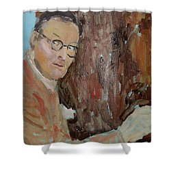 Writers I. Sketch Iv Shower Curtain by Bachmors Artist