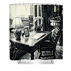 Writing Desk Bw Series 0808 Shower Curtain
