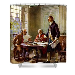 Writing The Declaration Of Independence Shower Curtain