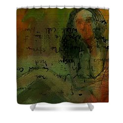 Written Out Shower Curtain by Jim Vance
