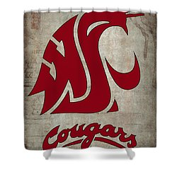 W S U Cougars Shower Curtain