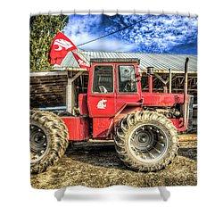 Wsu Tractor Shower Curtain