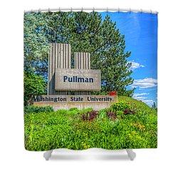 Wsu Welcome To Pullman Shower Curtain