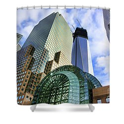 Wtc Nyc Construction I Shower Curtain