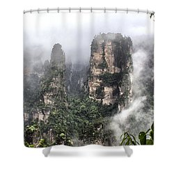 Wulingyuan #1 Shower Curtain by Wade Aiken