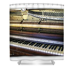 Wurlitzer Piano Shower Curtain by Brian Wallace