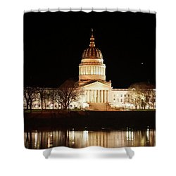 Shower Curtain featuring the photograph Wv Capital Building by B Wayne Mullins