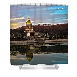 Wv State Capitol At Dusk Shower Curtain
