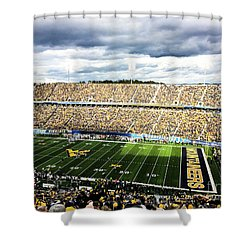 Wvu Football Shower Curtain