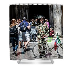 Ww II Soldier Shower Curtain