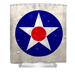 Ww2 Army Air Corp Insignia Shower Curtain by John Wills