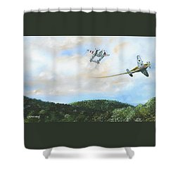 Wwii Dogfight Shower Curtain