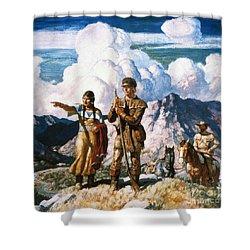 Wyeth: Sacajawea Shower Curtain by Granger